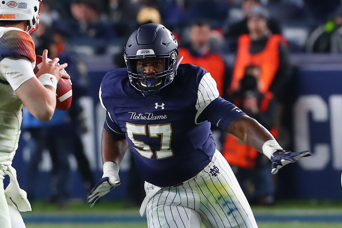 This Guy Plays Notre Dame Football: #57, Jayson Ademilola, DT