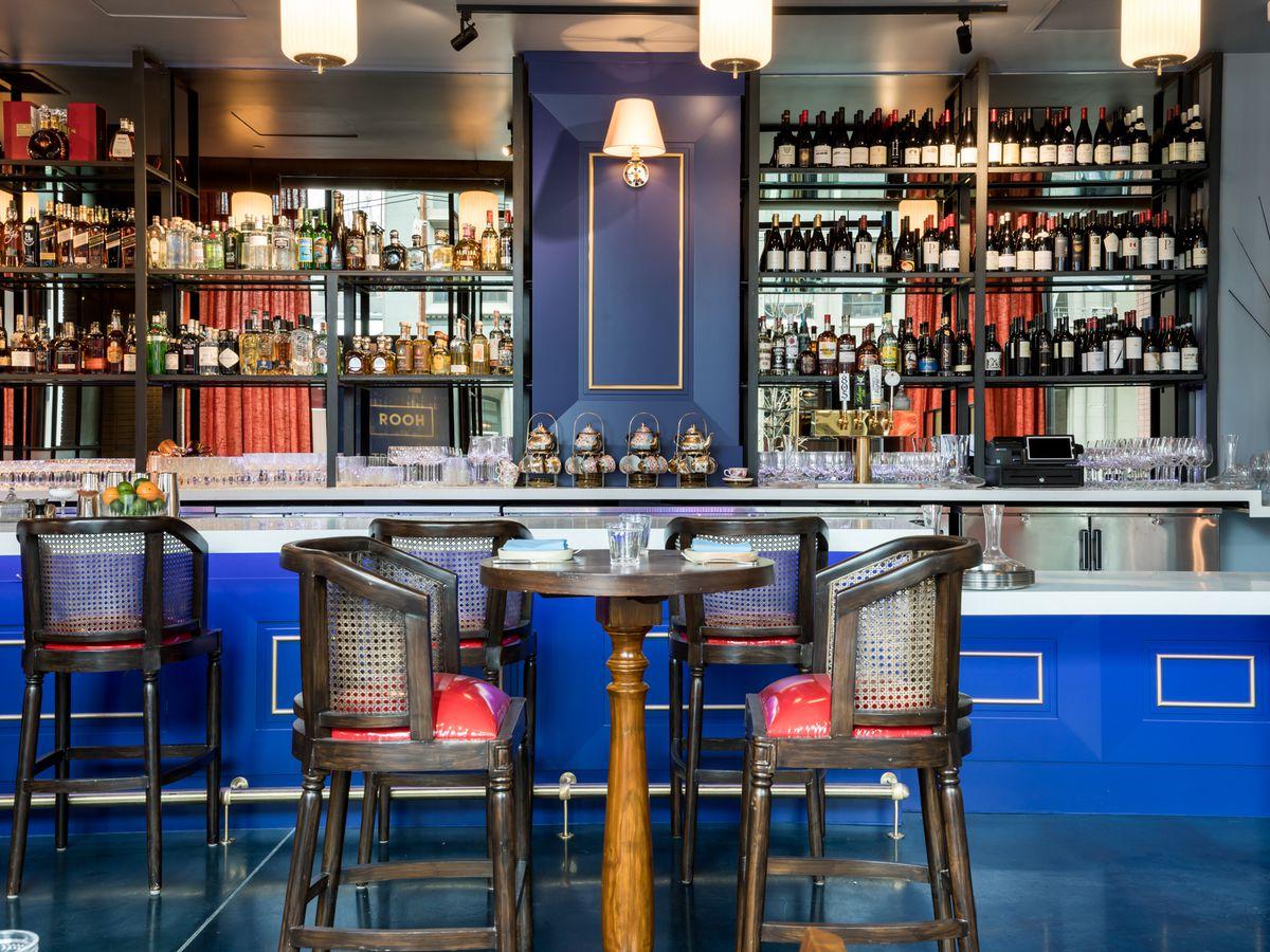 The bar at Rooh SF
