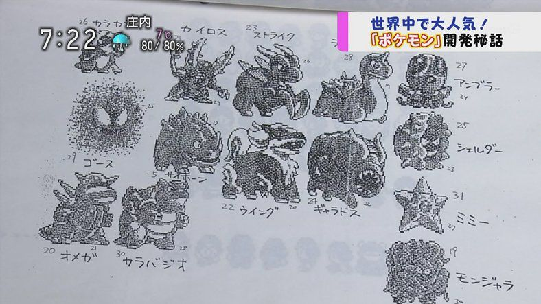 Unusued Pokémon designs