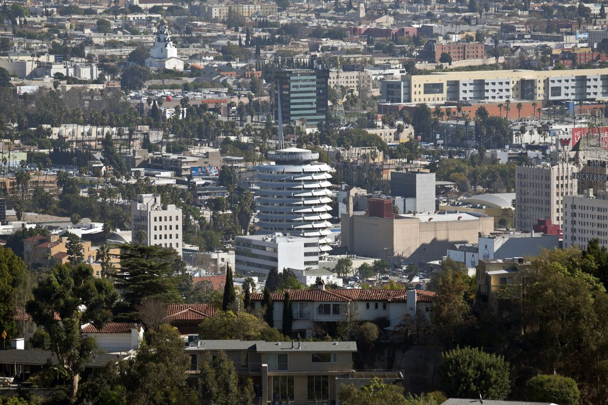 Hollywood skyline with Capitol records building in the center