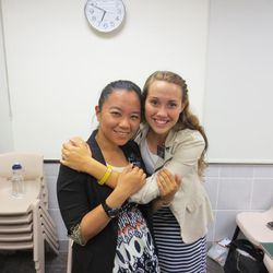 Sister Lin Yu-Yu and Sister Marissa Anderson are shown together during their time as mission companions.