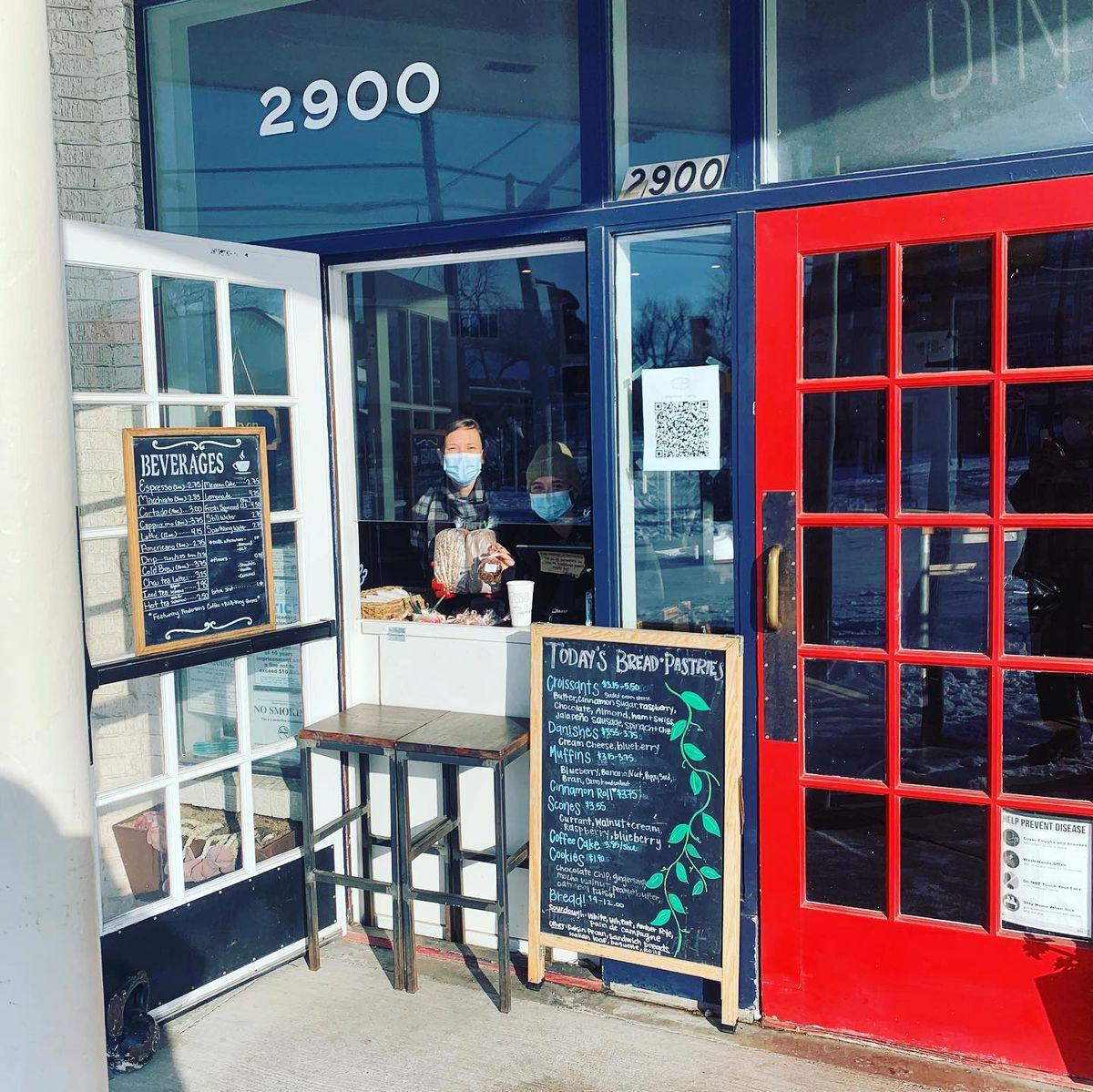 Texas French Bread's walkup window