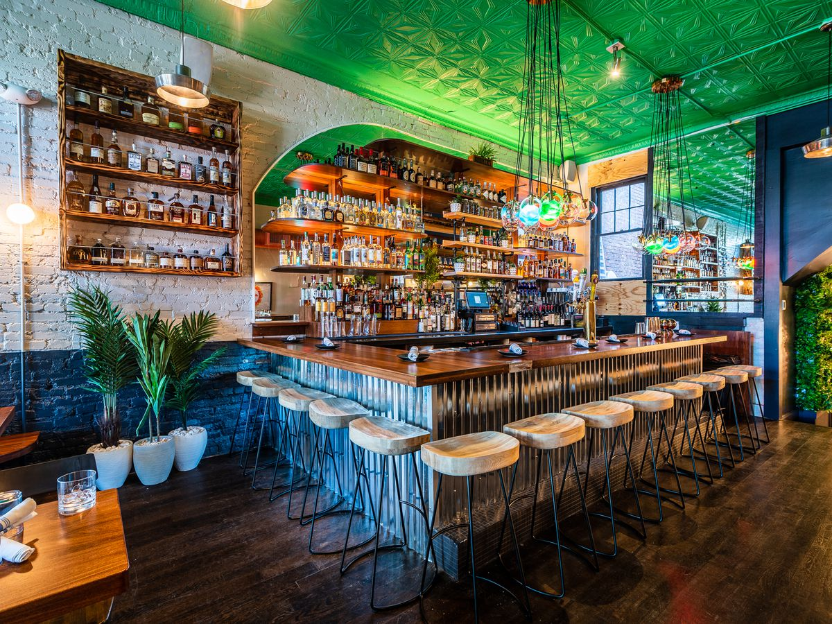 The renovated bar at Mexicue in D.C.