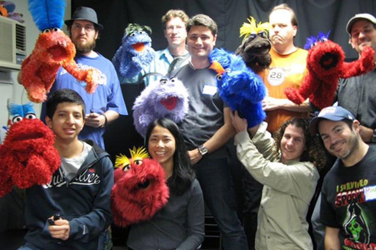 """Puppet School. Photo via Facebook/<a href=""""http://www.facebook.com/puppetschool#!/media/set/?set=a.327653420605600.68558.132013266836284&amp;type=3"""">Puppet School</a>."""