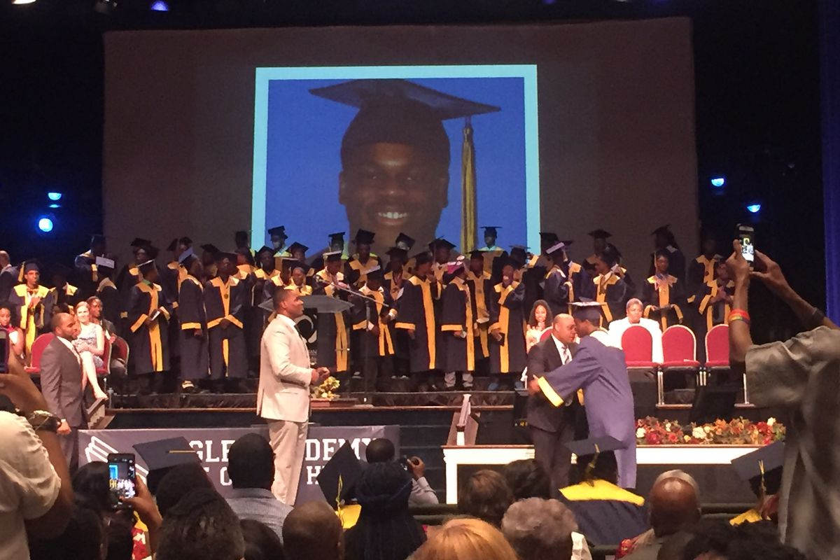 Jamal Trotman graduates from Eagle Academy.