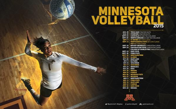 2015 Gopher Volleyball Schedule Poster