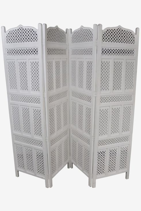White paneled screen with lots of detail.