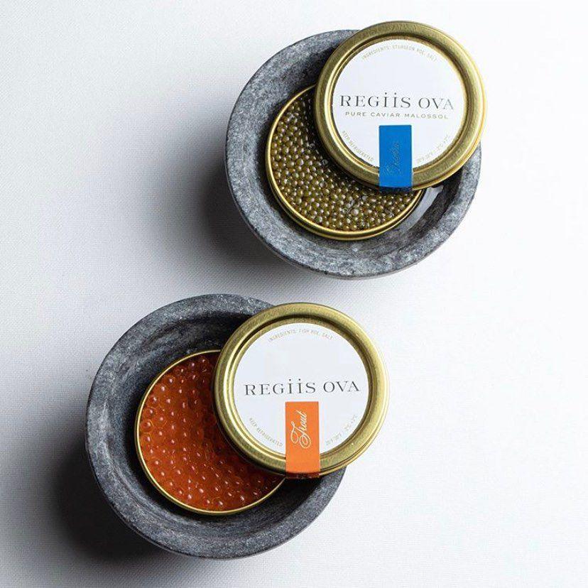 Trout roe and caviar from Regiis Ova Caviar