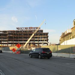 Plaza building, viewed from Clark & Addison -