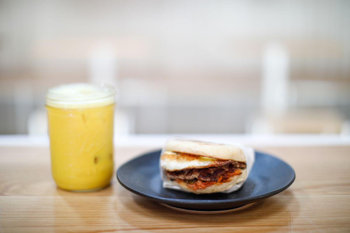 Go Get Em Tiger Highland Park breakfast sandwich