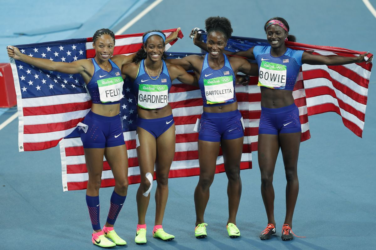 English Gardner Was Missing A Shoe Before The 4x100m Final And