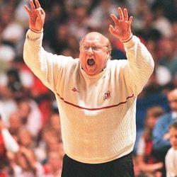 Utah coach Rick majerus. photo by Tom Smart