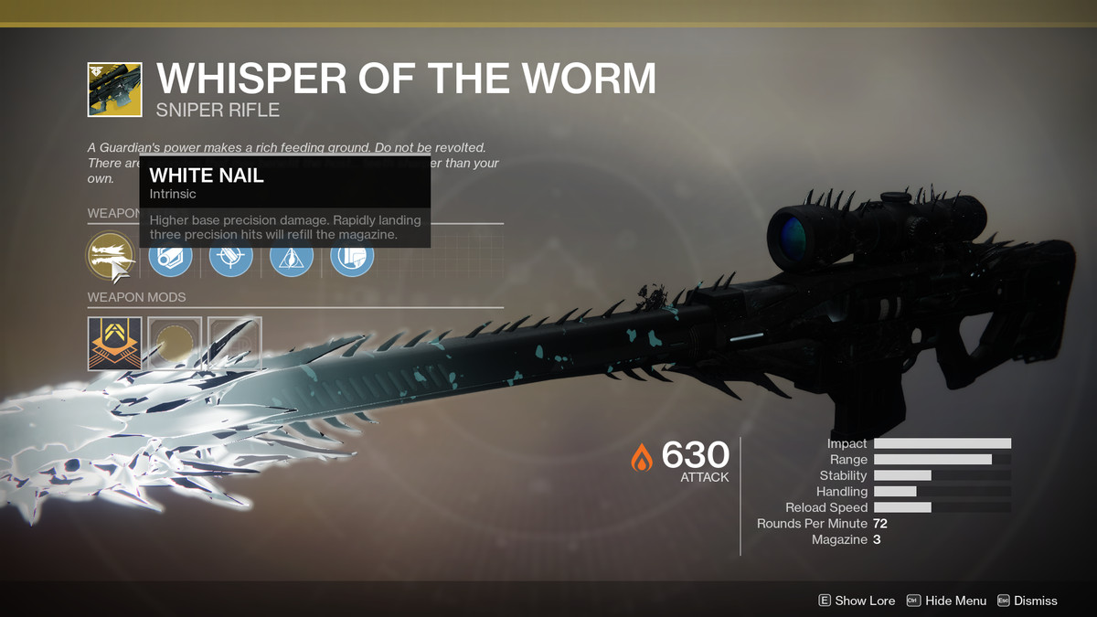 Whisper of the Worm Exotic Destiny 2