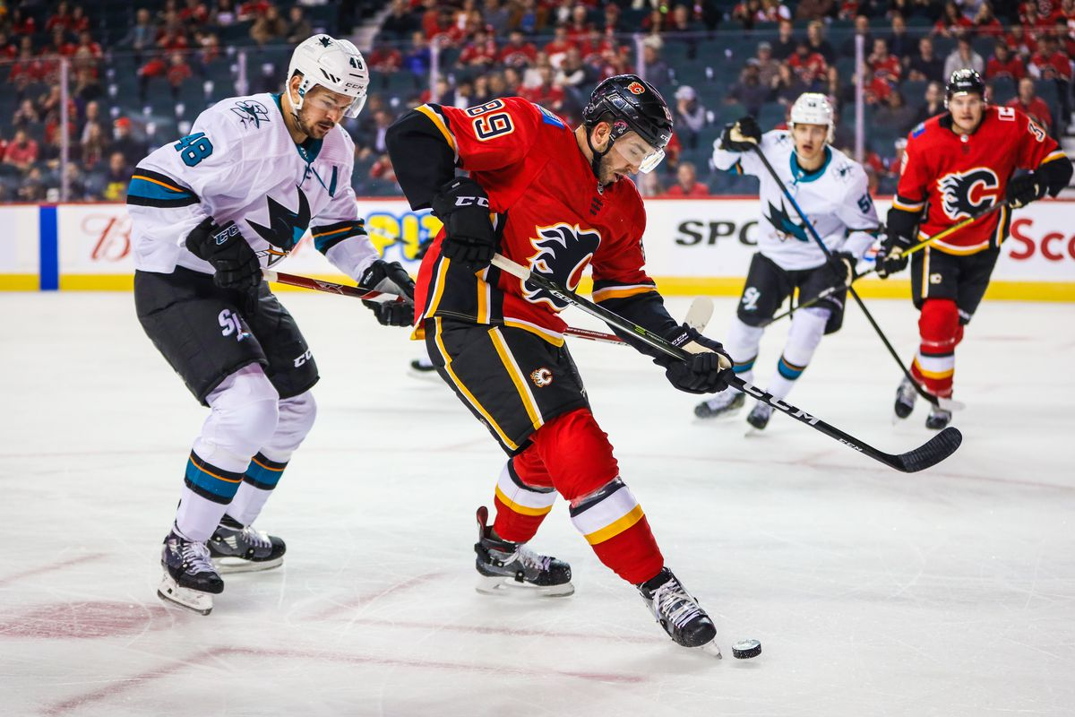 NHL: Preseason-San Jose Sharks at Calgary Flames