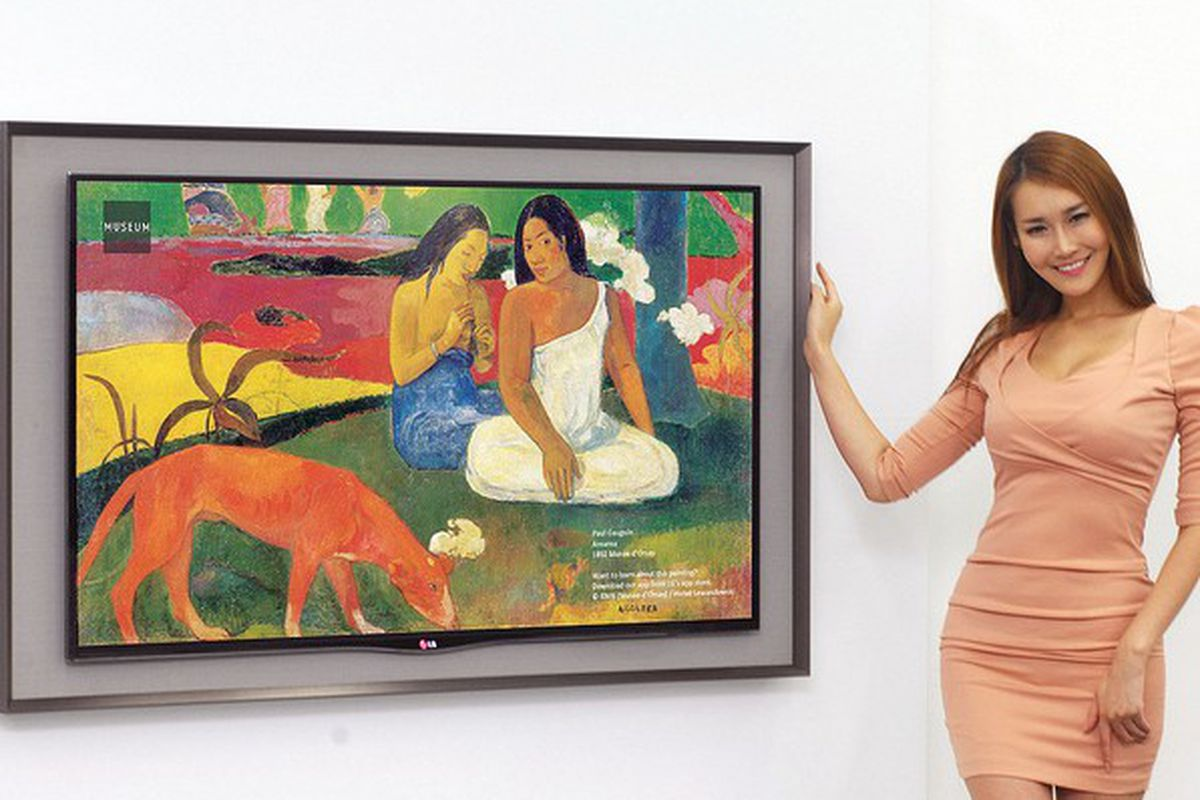 Lg Disguises Its Latest Oled Tv As A Framed Painting The