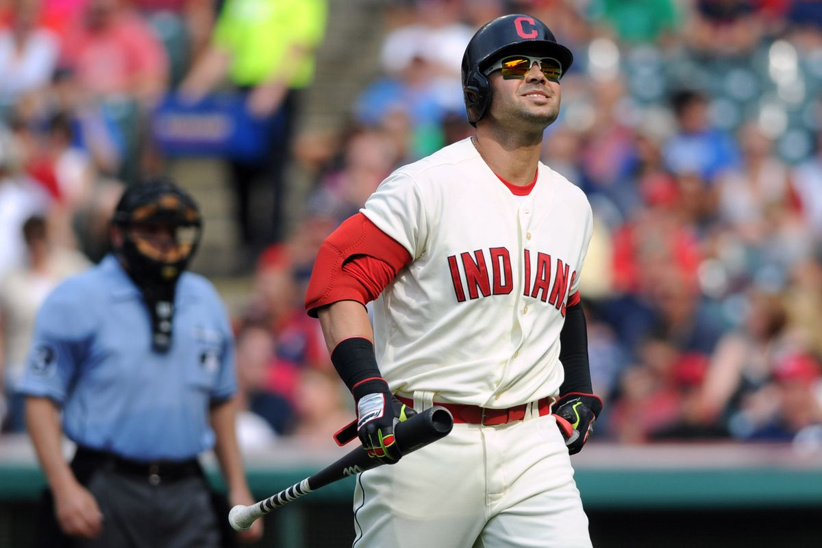 The long familiar walk of Nick Swisher back to the dugout