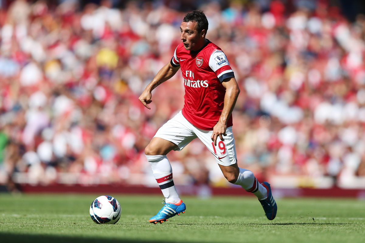 LONDON, ENGLAND - AUGUST 18:  Santi Cazorla of Arsenal in action during the Barclays Premier League match between  Arsenal and Sunderland at Emirates Stadium on August 18, 2012 in London, England.  (Photo by Julian Finney/Getty Images)
