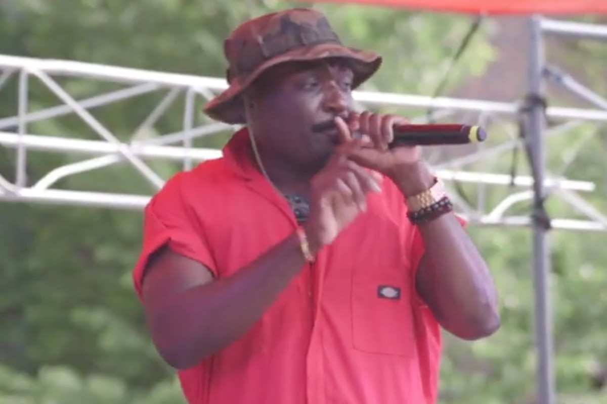 Chicago rap artist Roy Kinsey performing during the 2019 Pride South Side Festival.