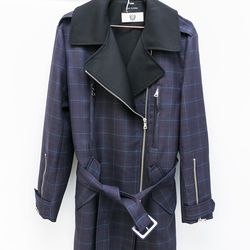 Low Classic plaid zip-front trench coat, $380