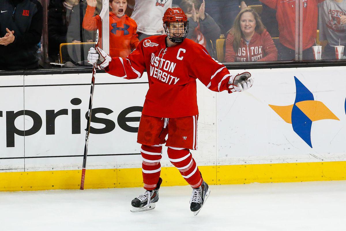Matt Grzelcyk scored two goals in Boston University's 4-3 overtime win.