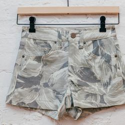 """<b>Objects Without Meaning</b> hi-rise denim shorts, <a href=""""http://www.spiritualameri.ca/new-arrivals/hi-rise-denim-shorts.html"""">$148</a>"""