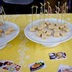 Tiny bites at a grand tasting. // photo by Andrea Grimes
