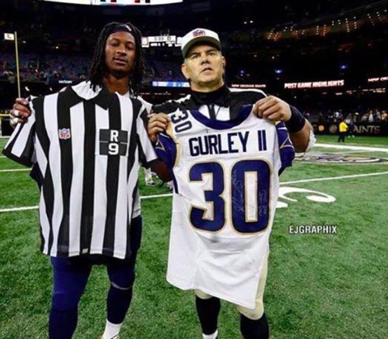 quality design 97f9d a5a27 Todd Gurley's fake photo with a ref tricked Mike Francesa ...