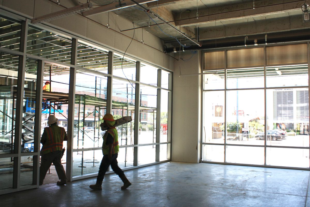 Snooze A.M. Eatery's plywood on North Lamar
