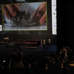 Massimo Bottura showed a video involving tongue, blood, charcoal and an epic soundtrack.