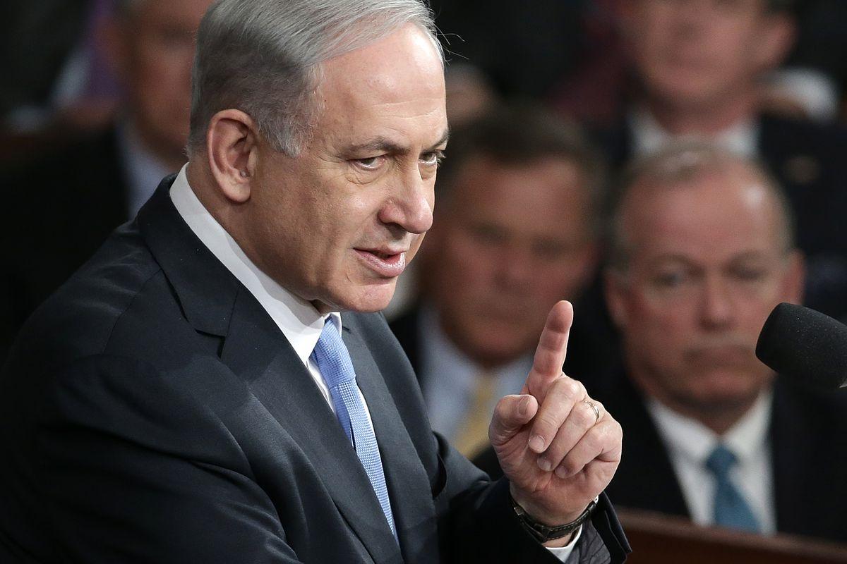Netanyahu addresses Congress.