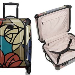 """<b>Tumi</b> Vapor Continental Carry-On in Deco Floral, <a href=""""http://www1.bloomingdales.com/shop/product/tumi-vapor-continental-carry-on?ID=786308&CategoryID=1000314#fn%3Dspp%3D11"""">$495</a> at Bloomingdale's"""