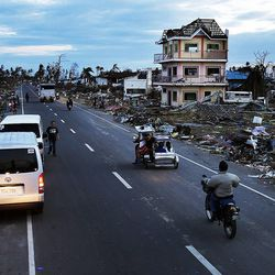Damage shows in Tacloban, Tuesday, Nov. 19, 2013, following a typhoon in the Philippines.