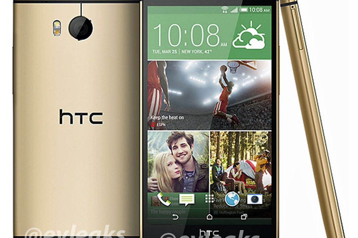 htc one 2014 gold