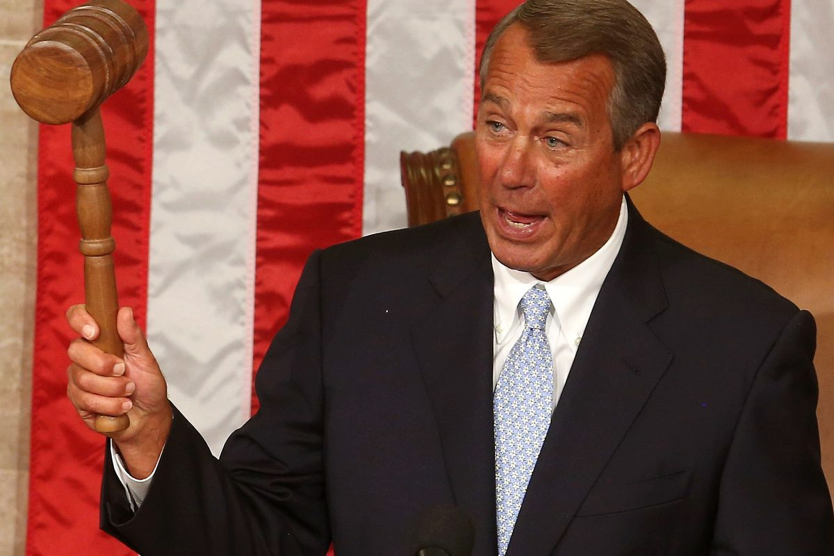 Speaker Boehner's going after Obama's executive actions on immigration with his gavel.