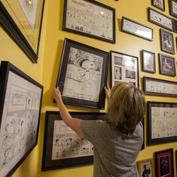Dozens of drawings by Peanuts' creator Charles Schulz hang in his daughter Amy Schulz Johnson's home in Alpine. Johnson talked about her father in an interview Wednesday, Oct. 28, 2015.