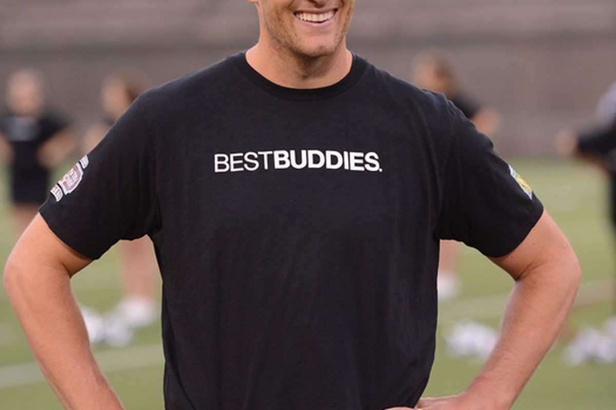 His T-shirt says what I've been thinking about him for years. (Photo by Stephen Lovekin/Getty Images)