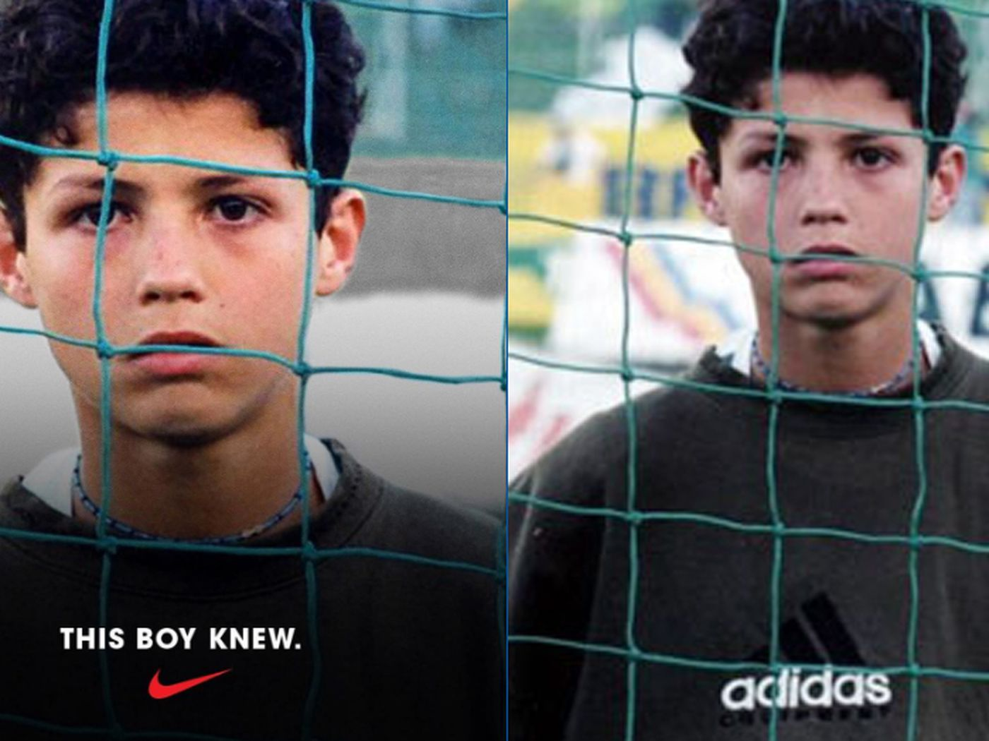 Cristiano Ronaldo S Childhood Photo Was Cropped By Nike To Hide His