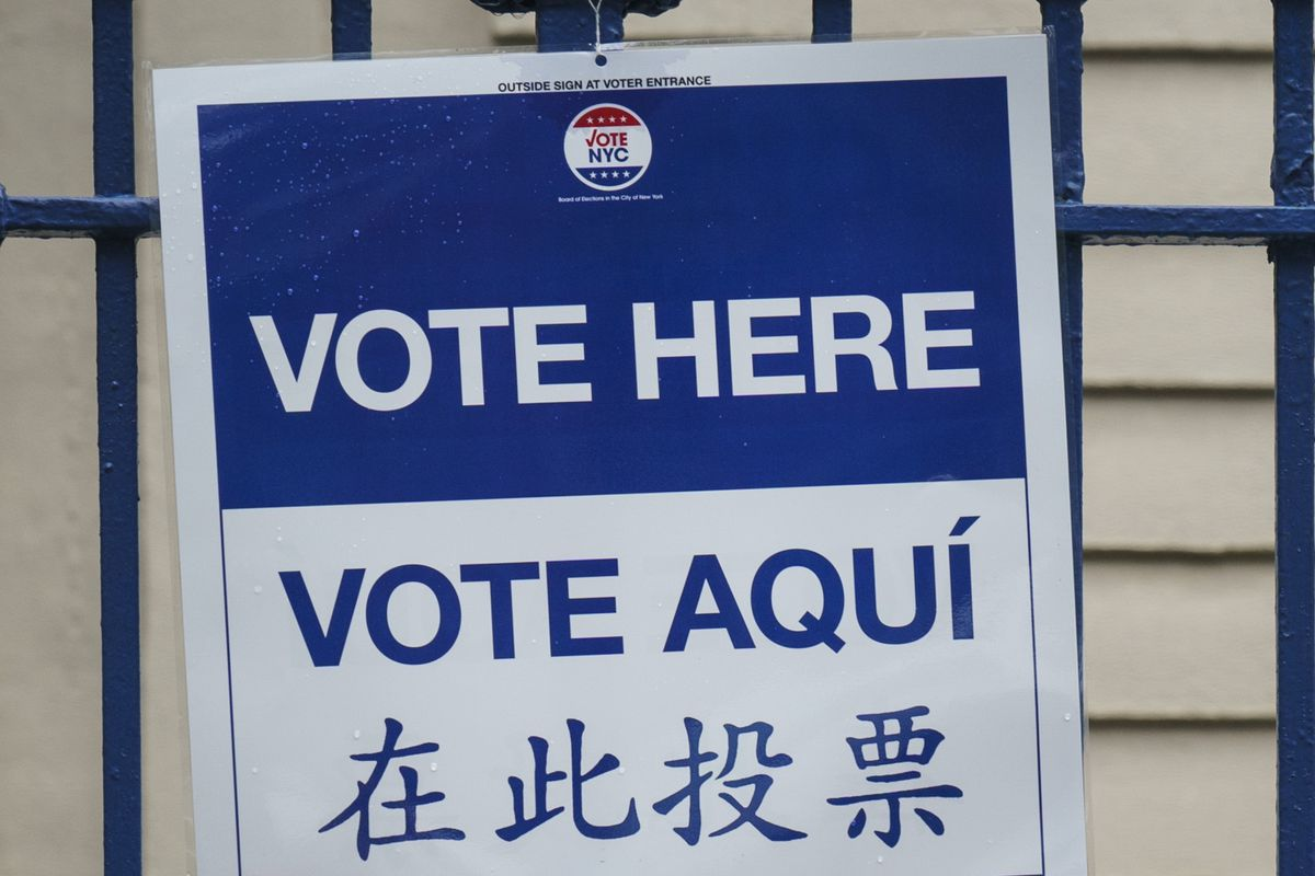 New Yorkers Go To The Polls In New York State Primary