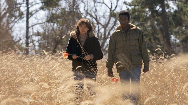 Carmen Ejogo and Mahershala Ali in <em>True Detective</em> season 3.