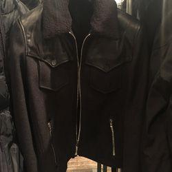 Men's leather jacket, $295