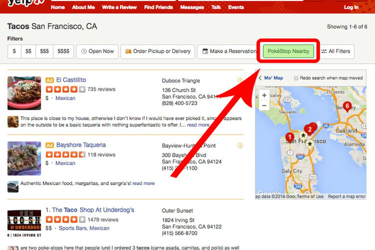 Yelp's new feature