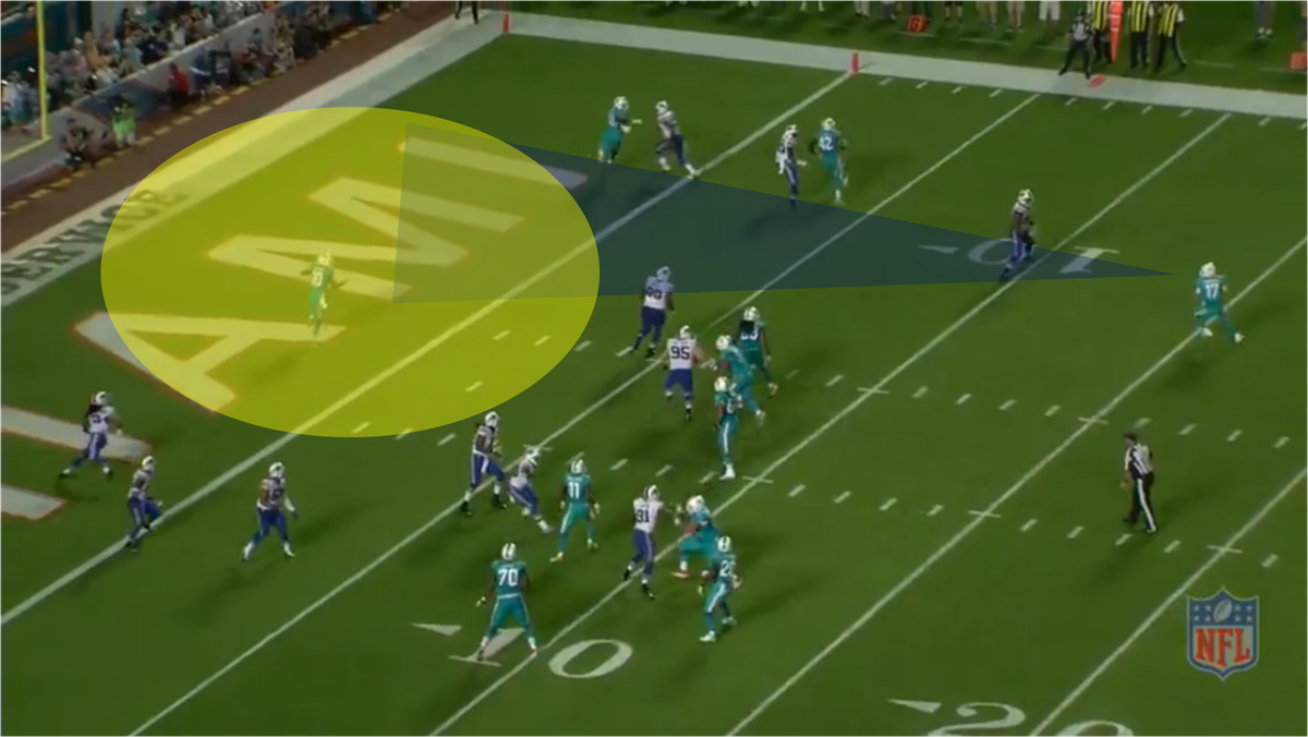 Tannehill to Gibson TD against Bills 6a graphics
