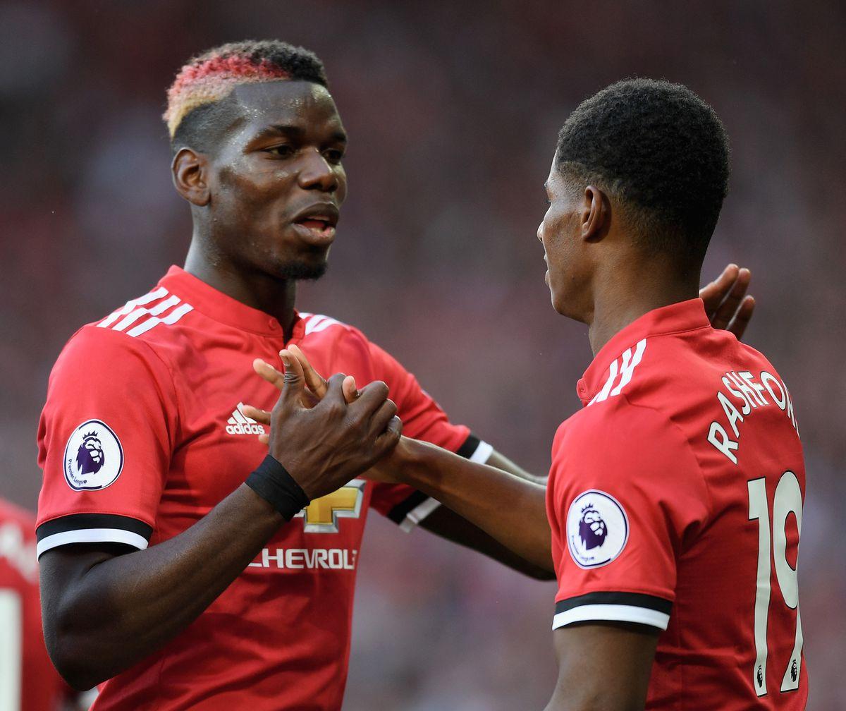Paul Pogba and Marcus Rashford - Manchester United - Premier League