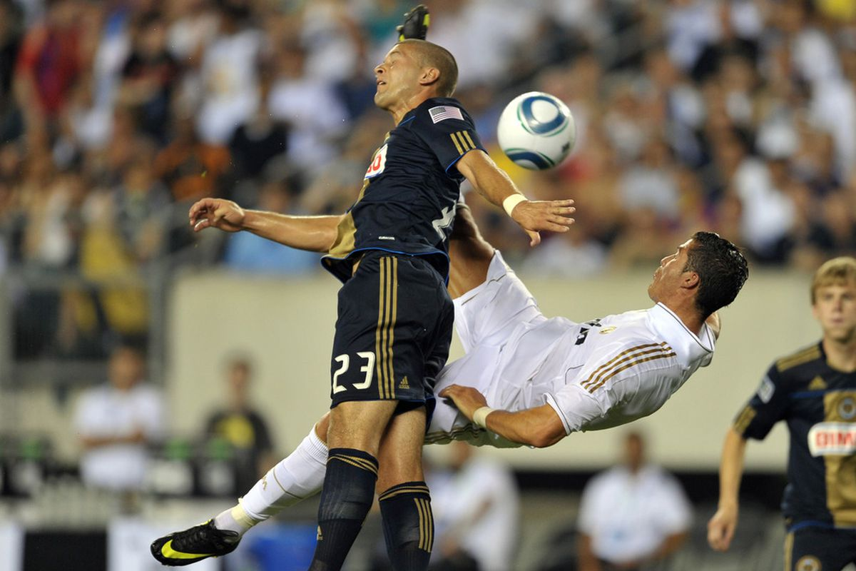 CR7 does not like D.C. United trialist Ryan Richter.