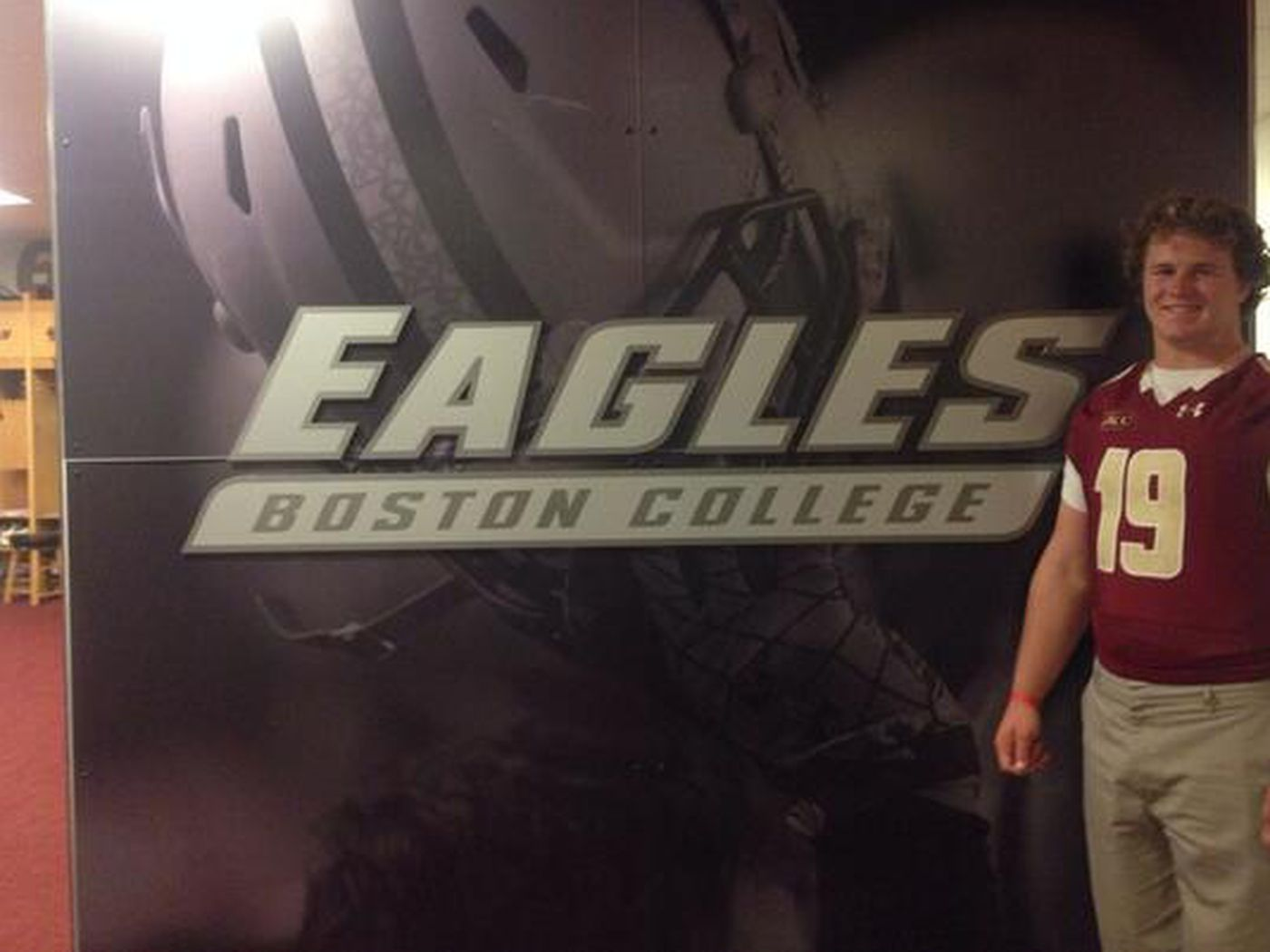 official photos 44940 1db37 Ray Smith Signs with Boston College, Faxes Letter of Intent ...