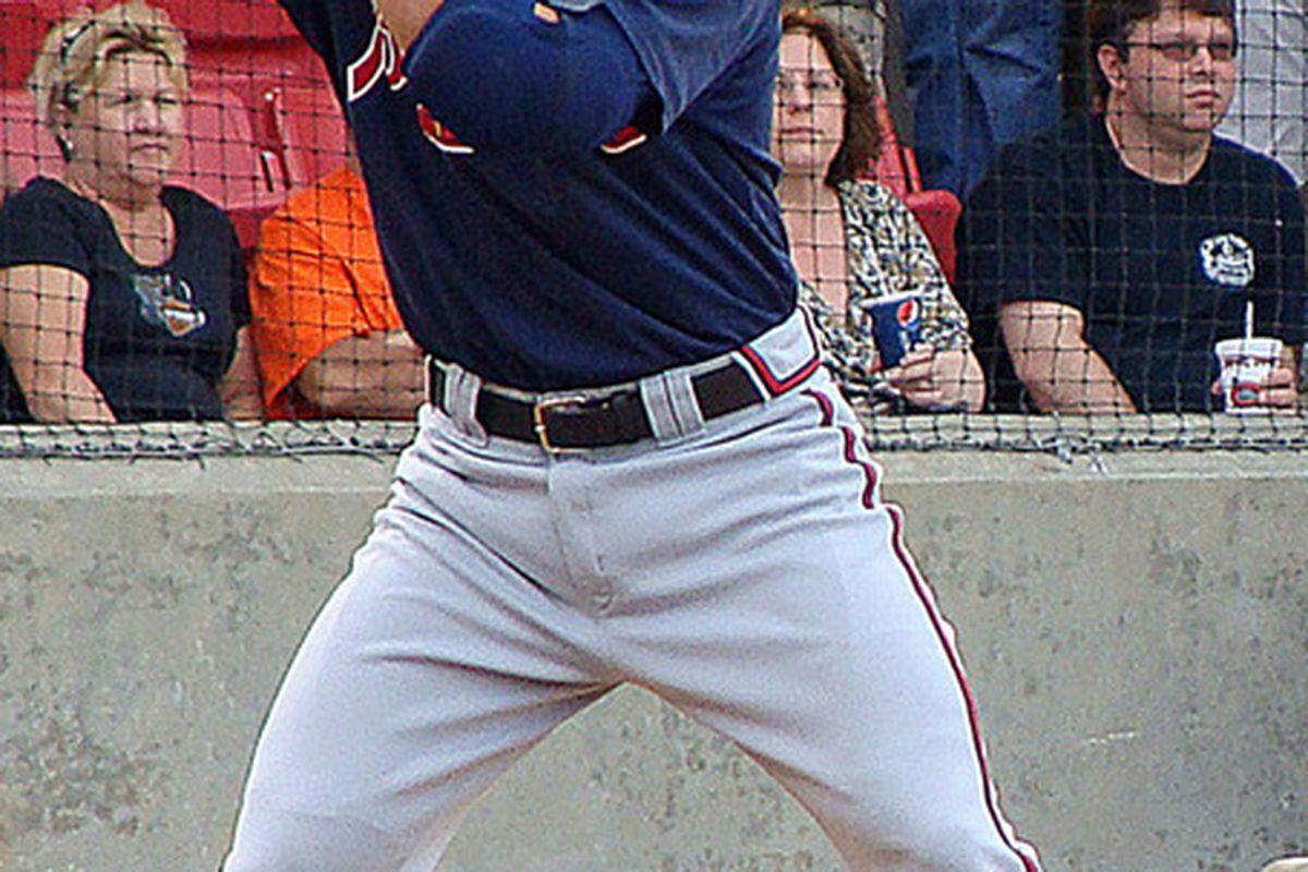 Brandon Hicks is the Atlanta Braves top shortstop prospect.