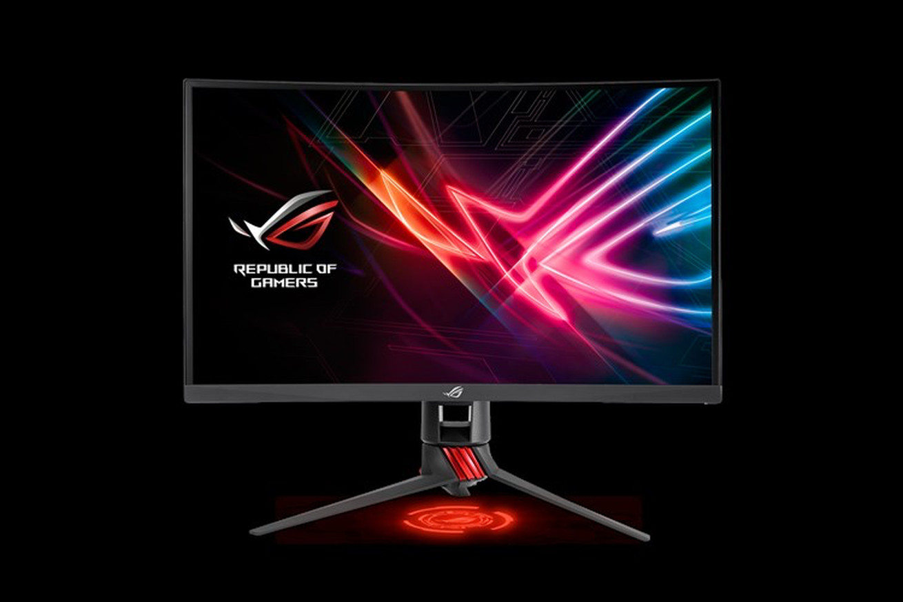 asus new curved monitor offers smoother gaming on a budget