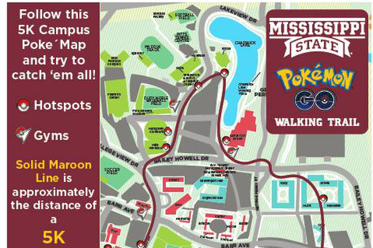 Mississippi State Has Its Own Pokemon Go Map For Whom The Cowbell
