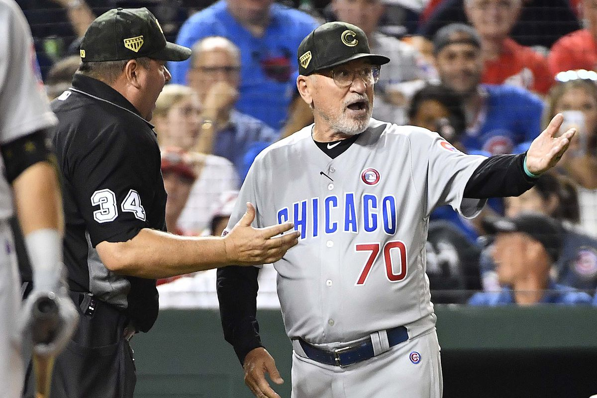 Cubs' manager Joe Maddon protests game over Sean Doolittle toe-tapping in delivery