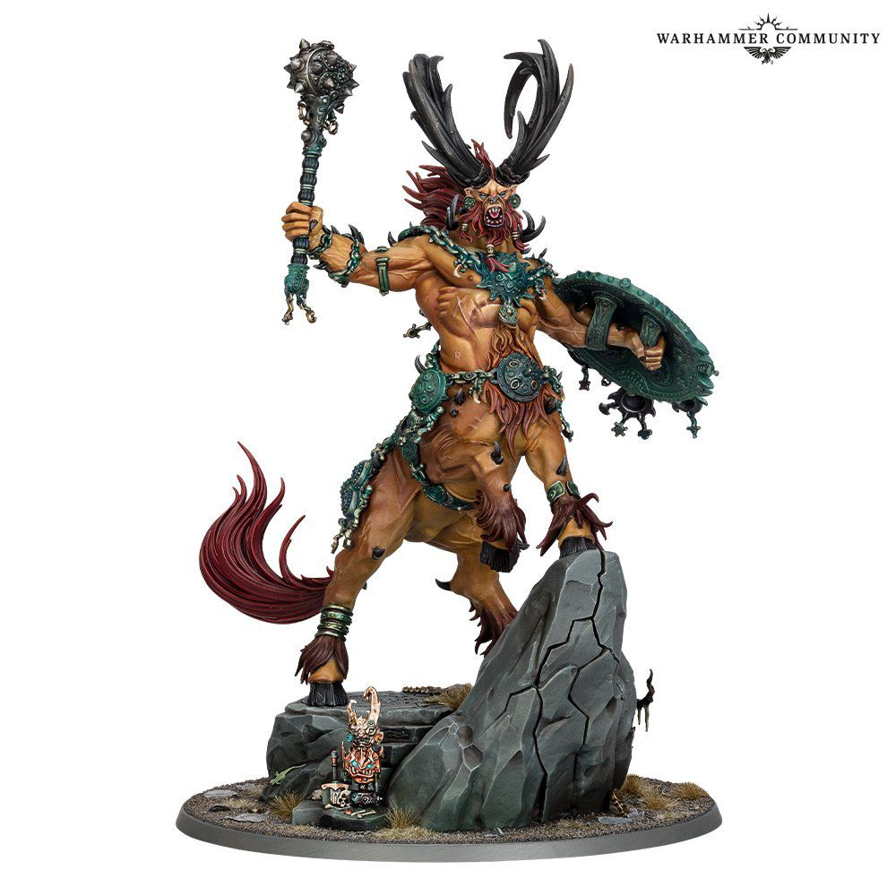 Not every day you get a new god. Kragnos has four legs, two arms, and a bad attitude on a 120 mm base.